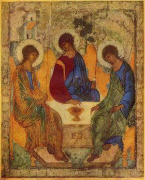 Resultado de imagen de la santisima trinidad de rublev