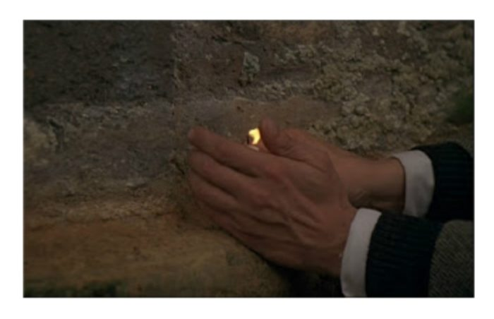 NOSTALGHIA de Tarkovsky: Escena del poeta y la vela